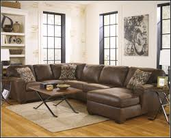 Furniture Leather U Shaped Sectional Couch With Chaise