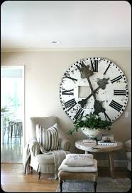 large wall clocks contemporary love the huge rustic clock for dining room wall extra large wall