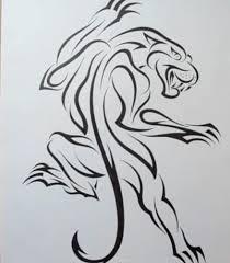 как нарисовать тату пантеры карандашом поэтапно
