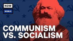 Bilderesultat for communism vs socialism pictures