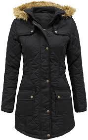 Ladies Fitted Parka Coats - JacketIn & Fur Hooded Parka Jacket Adamdwight.com