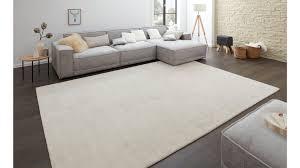 Handgewebter Teppich Interliving A 8034 Schneeweiß Ca 200 X 300 Cm