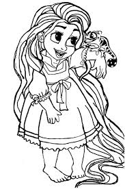 Disegno Della Principessa Rapunzel Bambina Da Stampare Gratis E Colorare