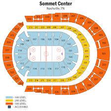 Breakdown Of The Bridgestone Arena Seating Chart Nashville