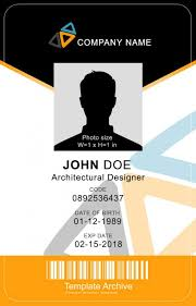 Company Id Card Template 16 Id Badge Id Card Templates Free Template Archive