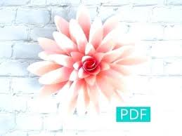 Giant Paper Flower Template Pdf Free Paper Rose Template Free Template And Full Tutorial To