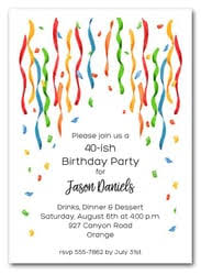 Birthday Party Invitation Mens Party Invitations Mans Birthday Party Invitations