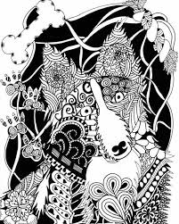 Small Picture free zentangle dog coloring page for adults FREE Printable