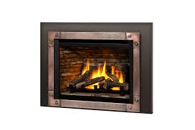 logs ledgestone liner edgemont hammered front in copper and 3 sided trim kit