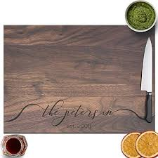 froolu lacy monogram handcrafted cutting boards for family name engraved gifts