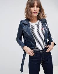 coloured leather biker jacket barney s originals
