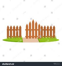 Exterior Fencing Designs Decorative Wooden Fences Exterior Appearance Design Stock
