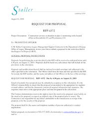 Sample Rfp Cover Letter Rfp Cover Letter Samples Resume Cv Cover