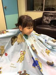子供カット 娘の前髪カット お母様の施術にお子様の同伴も歓迎