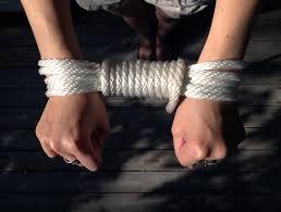 Bondage rope hand cuffs