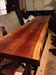 Redwood Slab Dining Table Final Stain On Redwood Slab Future Dining Table Things I Made