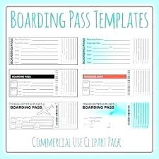 Boarding Pass Rsvp Template