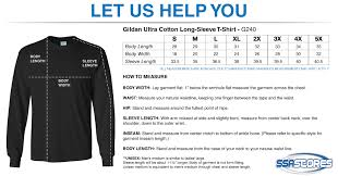Gildan Size Chart Pants North Cross School Gildan Ultra Cotton Long Sleeve T Shirt