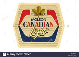 Genuine Molson Canadian Light Stock Photo 26161685 Alamy