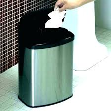 black bathroom trash can tapered wastebasket takes care of the with loads texture handwoven sy