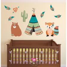 tribal animal nursery wall art decals