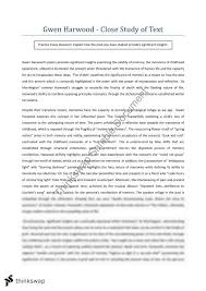 gwen harwood close study of text year hsc english  3 exchange credits