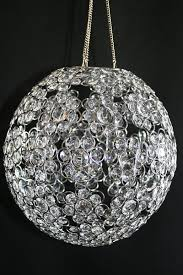 chandelier or table decor ayanna crystal beaded sphere 12 diameter