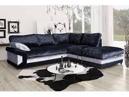 vargas crushed velvet corner sofa formal back at furniturestop co uk