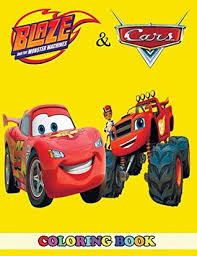 monster machines and cars coloring book