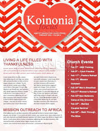 February Newsletter Template Valentines Day Chevron Newsletter Template Template