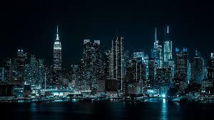 City lights, Half moon, 4k ...