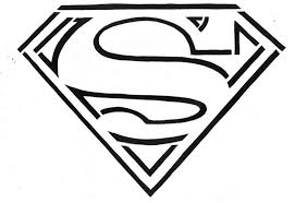 Small Picture Superman Logo Coloring Pages Symbol Gekimoe 83217