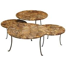 wood and wrought iron furniture. Set Of Four Petrified Wood And Wrought Iron Coffee Tables - Tables/Guéridons/Consoles Furniture Galerie Des Minimes. \u2039 R