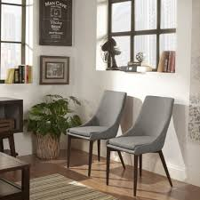 Sasha Mid-Century Brown Barrel Back Dining Chair by iNSPIRE Q Modern (Set of