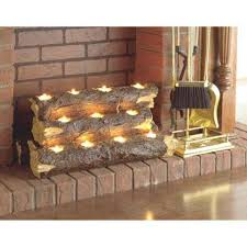 southern enterprise burning log fireplace candelabra for fireplace votive candle holder