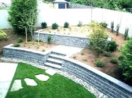 backyard wall cinder block ideas retaining concrete landscaping patio back backyard wall ideas