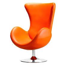 modern orange accent chair orange living room chair modern round orange