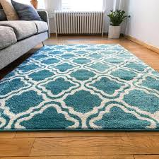 hampton bay blue trellis outdoor rug modern lattice accent area entry way rs