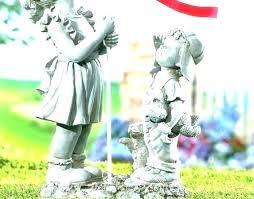 outdoor yard art outdoor garden statues for flag statue figurine yard art