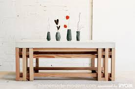 homemade modern diy ep15 concrete wood coffee table options