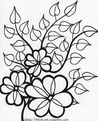 Small Picture Simple Flower Coloring Pages Plants Pictures Free Spring Mintreet