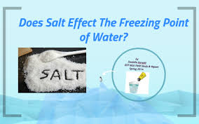 Brine Water Freezing Point Chart Does Salt Effect The Freezing Point Of Water By Danielle