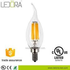 all glass no plastic ra 90 dimmable led light type e14 e12 led chandelier bulb 2200k 2700k