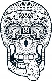 Small Picture Sugar Skull Coloring Pages Free Coloring Site Sugar Skull Coloring