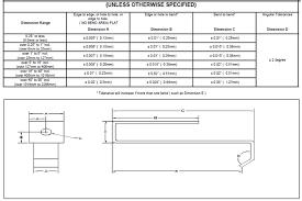 Linear Tolerance Chart Sheet Metal Tolerance Standards