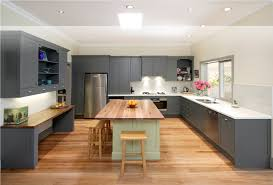 Oak Floor Kitchen Kitchen With Wood Cabinets And Gray Walls Interior Delectable