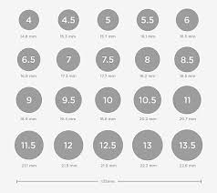 Find Your Ring Size   Ring Size Chart and Conversions – Shiree Odiz