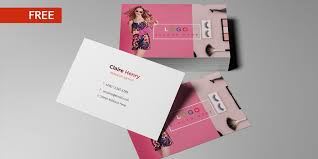 free print design business card template psd