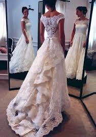 wd06 charming lace wedding dresses a line long train wedding dress