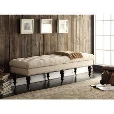 Amazon.com: Linon Isabelle Bed Bench, 62-Inch, Dark Espresso ...